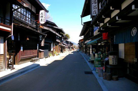 長野県塩尻市の奈良井宿の風景