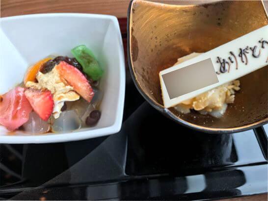 WASHOKU-蒼天の特別デザート