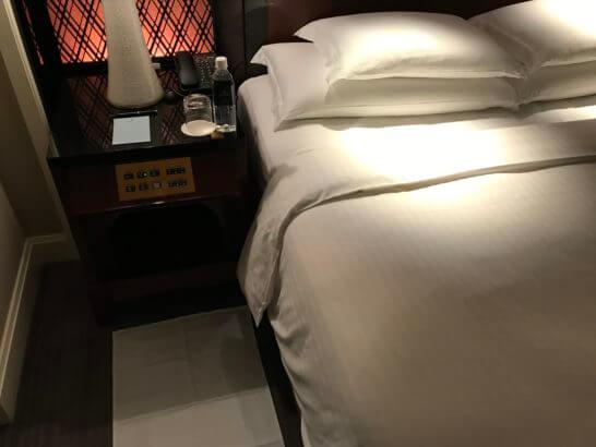 ザ・リッツ・カールトン東京のターンダウン後のベッド
