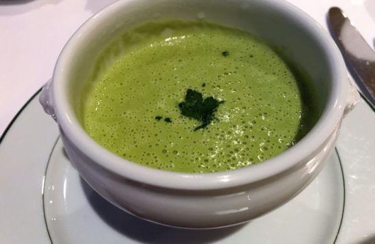 パークハイアット東京のジランドールのスープ