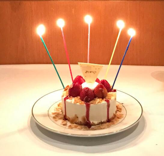 ジランドールのホールケーキのアップ