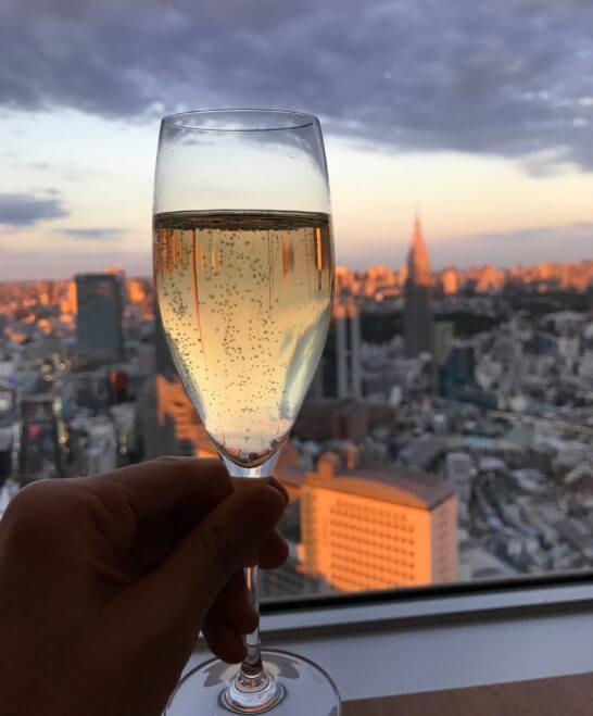 パークハイアット東京のジランドールのシャンパン