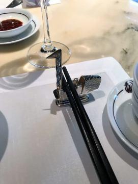 ザ・ペニンシュラ東京のヘイフンテラスの箸置き