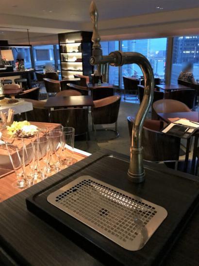 パレスホテル東京のエグゼクティブラウンジのビールサーバー