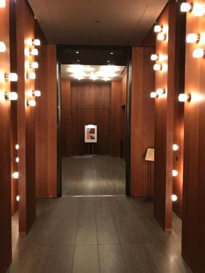 アンダーズ東京の1Fエレベーターホール