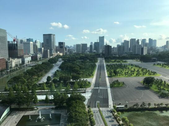 パレスホテル東京の景色(和田倉噴水公園側)