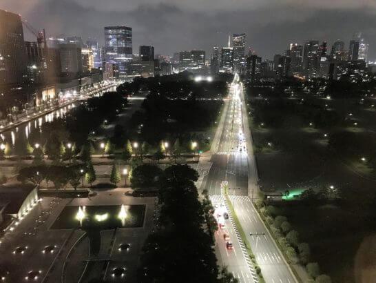 パレスホテル東京の夜景(和田倉噴水公園側)