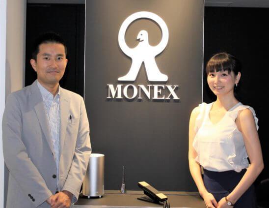 マネックスFX マーケティング部の安藤大輔さん、マネックスグループ 広報の松﨑裕美さん