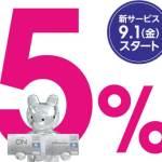 クラブ・オン ミレニアムカード セゾンの新サービス(西武百貨店・そごうで5%)