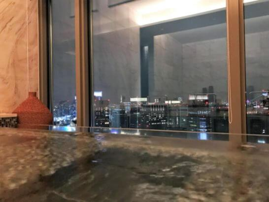 マンダリン・オリエンタルホテル東京のスパ(寝風呂)