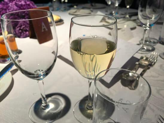 SPGの11ホテルブランドを体感できるラグジュアリーなガラディナーの白ワイン