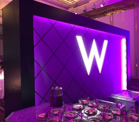SPGの11ホテルブランドを体感できるラグジュアリーなガラディナーの会場の入り口
