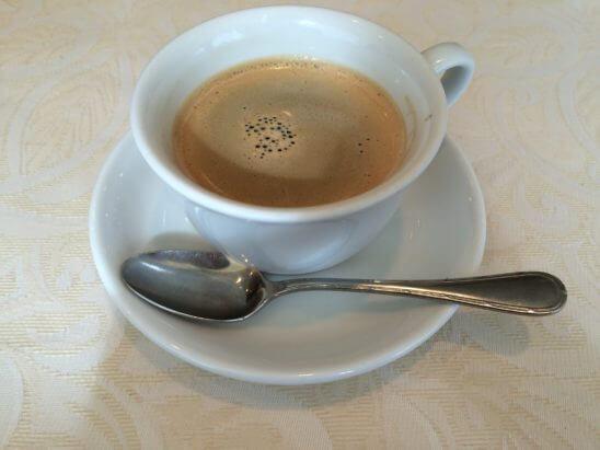 伊勢丹のレストラン・キハチのコーヒー