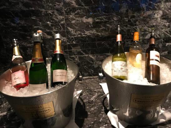 パレスホテル東京のエグゼクティブラウンジのワイン