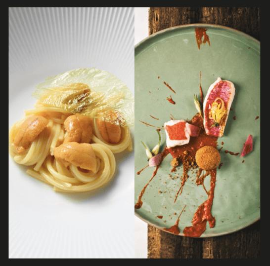 ラグジュアリーカードの美食イベント Epicureaの料理の例