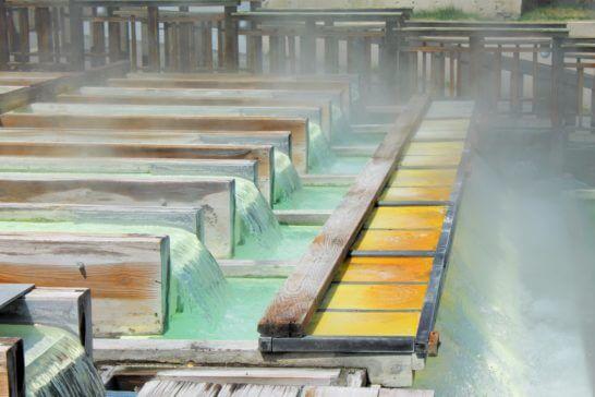 群馬県草津町の湯畑