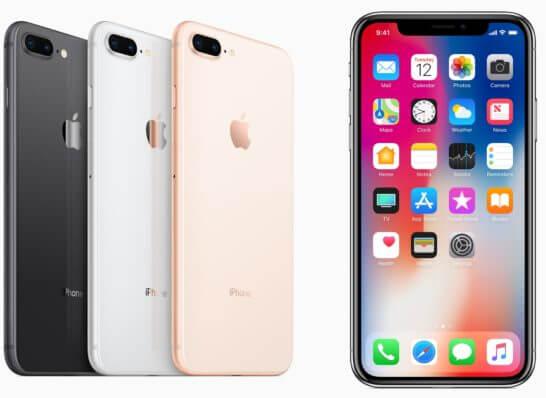 iPhone 8Plus、Xの色