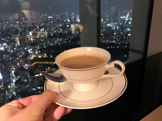 ザ・リッツ・カールトン東京のクラブラウンジのカフェインレスコーヒー