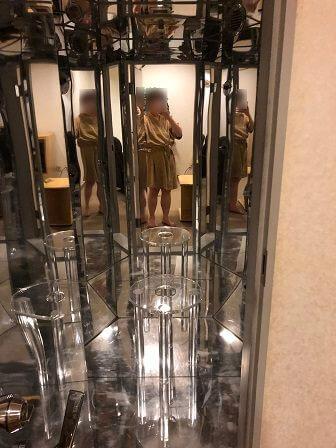東京マリオットホテルのフィットネスジムの光シャワー