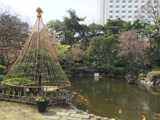 グランドプリンスホテル新高輪の庭園 (池)