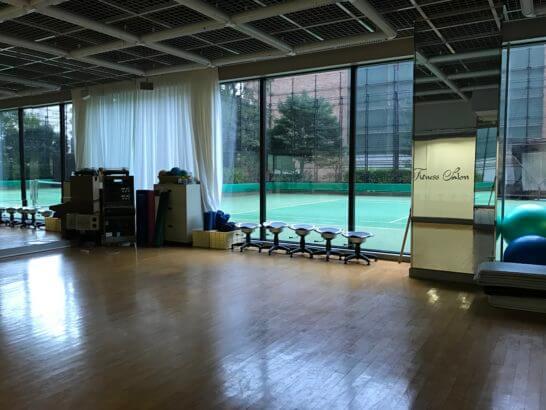 東京マリオットホテルのフィットネススタジオ・テニスコート