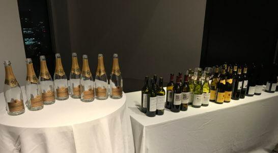 アメックス・ビジネス・ゴールドのイベントで振る舞われたワイン