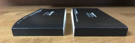 エポスプラチナカードと三井住友プラチナカードのプラチナグルメクーポン (側面)