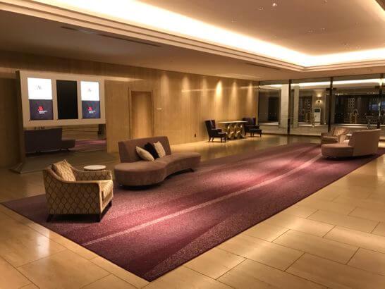 東京マリオットホテルのホール