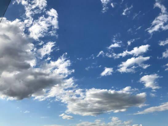 椿山荘のスイートルームの青空