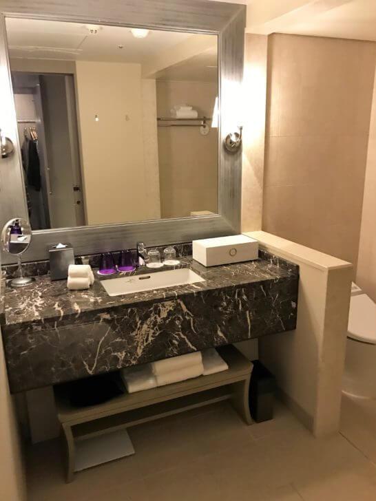 東京マリオットホテルの洗面所