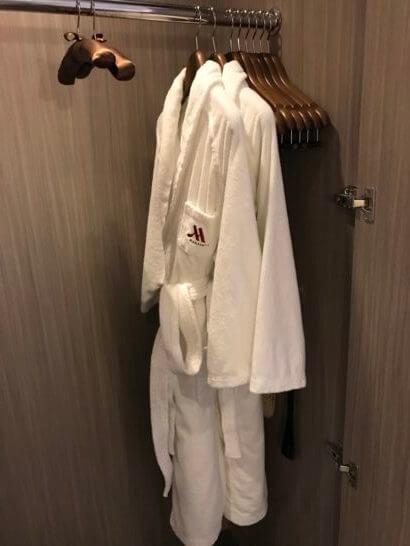 東京マリオットホテルのクローゼット