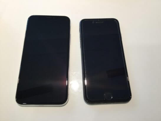 iPhone XとiPhone 7