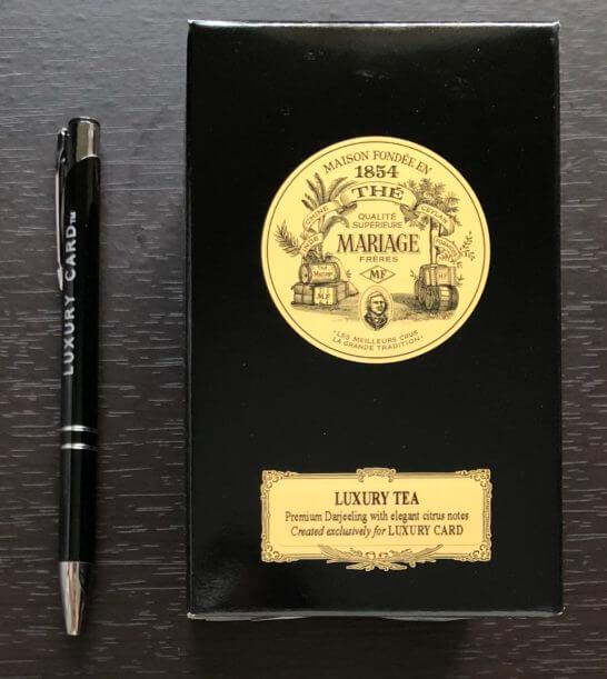 Luxury Teaとラグジュアリーカードのボールペン