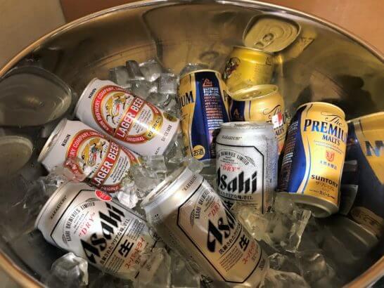 ウェスティン都ホテル京都のクラブラウンジのビール