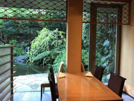 ANAインターコンチネンタルホテル東京の日本料理 雲海の店内