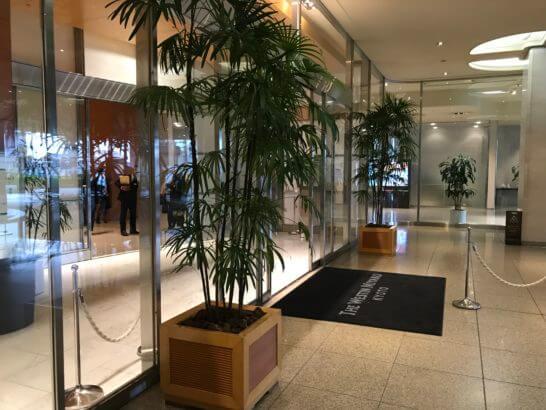 ウェスティン都ホテル京都の入り口