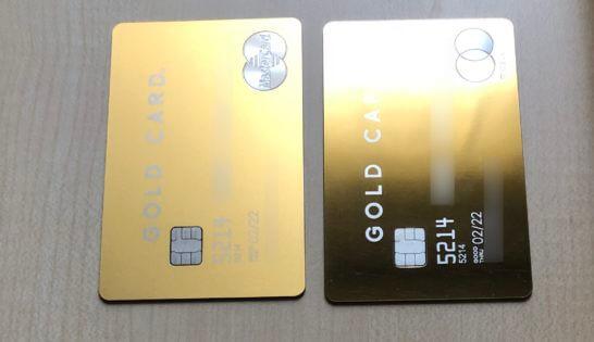 新旧2枚のラグジュアリーカード(ゴールドカード)