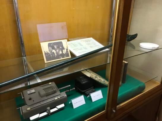 富士屋ホテルの博物館の展示