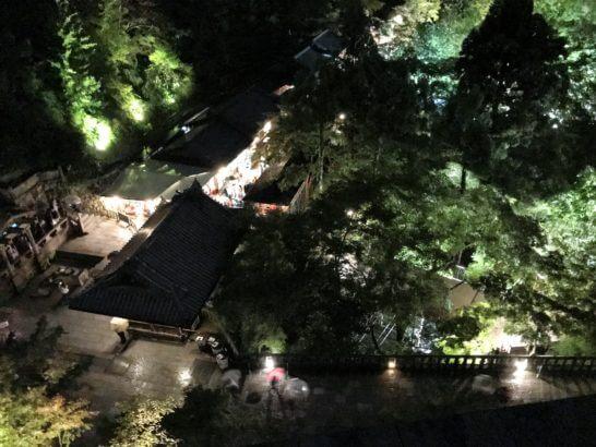 夜の清水寺(アメックスの夜間参拝イベント)の美しいライトアップ (2)