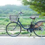 自然の中の電動自転車