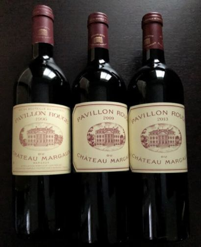 高級赤ワイン パヴィヨン・ルージュ・デュ・シャトー・マルゴー 1996 ・2009・2013