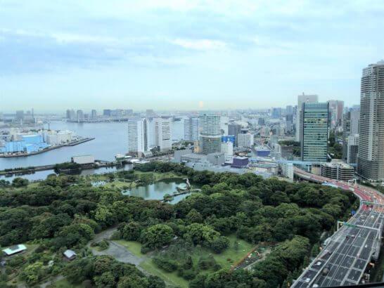 コンラッド東京のチャイナブルーからの眺め