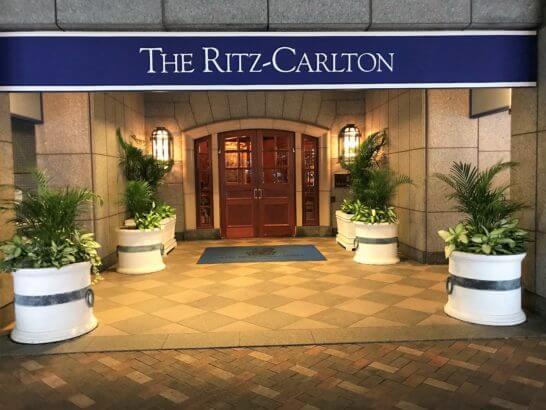 ザ・リッツ・カールトン大阪の入り口