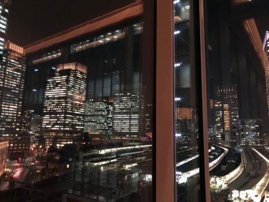 ラグジュアリーソーシャルアワーの会場から見る夜景