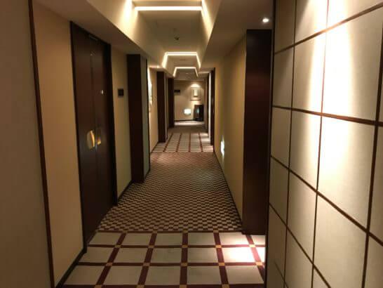 インターコンチネンタルホテル東京の廊下