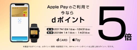 dカード ゴールドのApple Payキャンペーン