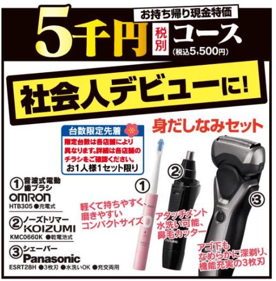 ヤマダ電機の5千円福袋(2020年)