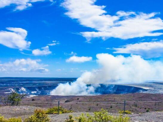 ハワイ島のキラウェア火山