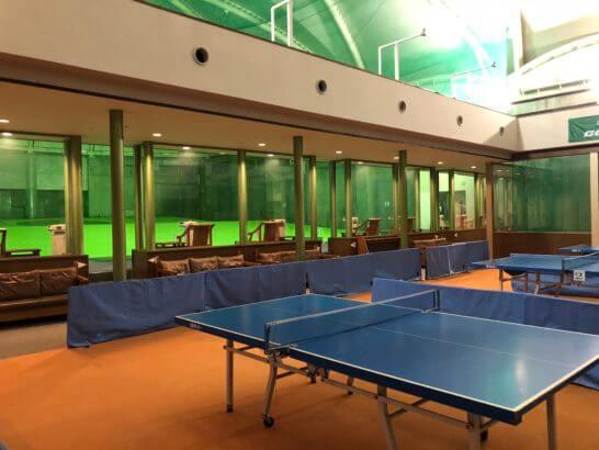 ヒルトン小田原の卓球・ゴルフ練習場