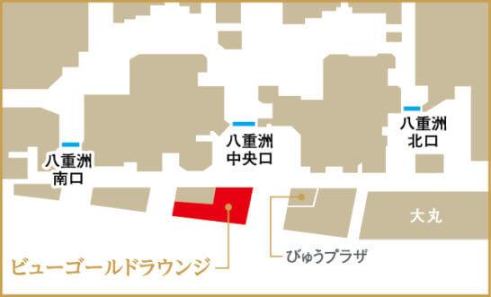 ビューゴールドラウンジの地図